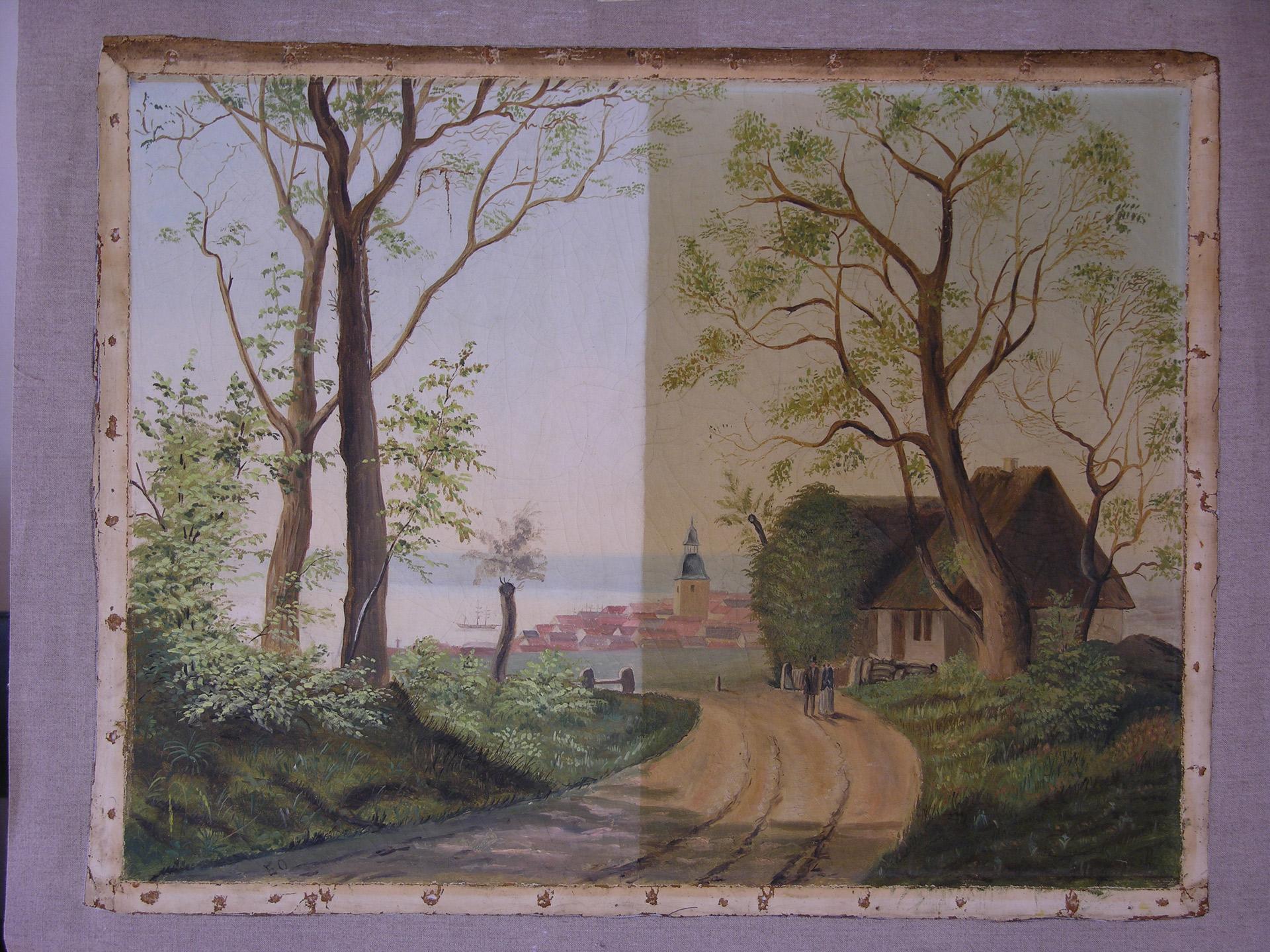 Maleri Af Jorgen Aabye Steensberg Konservering